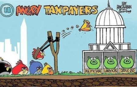 Angry taxpayers